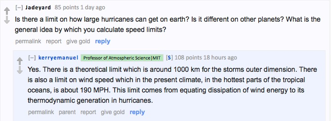 Is there a limit on hurricane size and wind speed? 1000 kn and 190 mph.