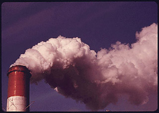 This power station smokestack in Pittsburgh was fit with a $42 million wet scrubber to minimize emissions.