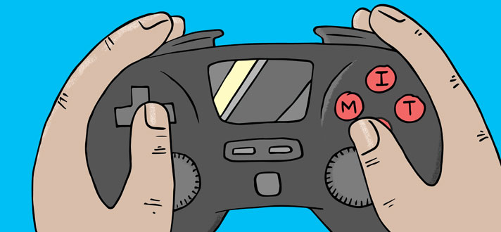 An MIT video game controller. Courtesy of Brett Paci.