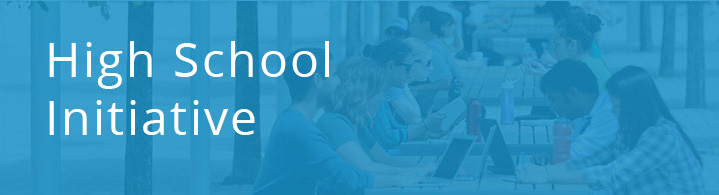 Banner image for the edX high school initiative.