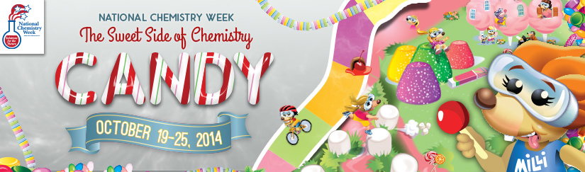 Image promoting National Chemistry Week, with lots of candy.