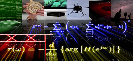 Collage of images depicting various signal processing methods and applications.
