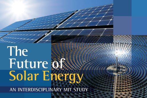 """Cover image of report """"The Future of Solar Energy."""""""