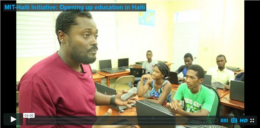 Screenshot of MIT-Haiti video player.