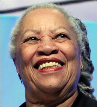 Photo of Toni Morrison, smiling.