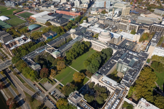 Arial photo of MIT campus.