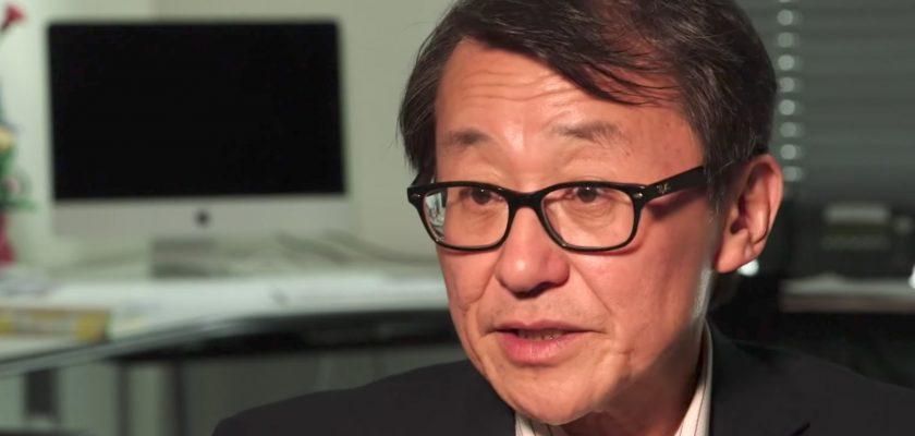 Photo (video screengrab) of Professor Miyagawa speaking while seated at a desk.