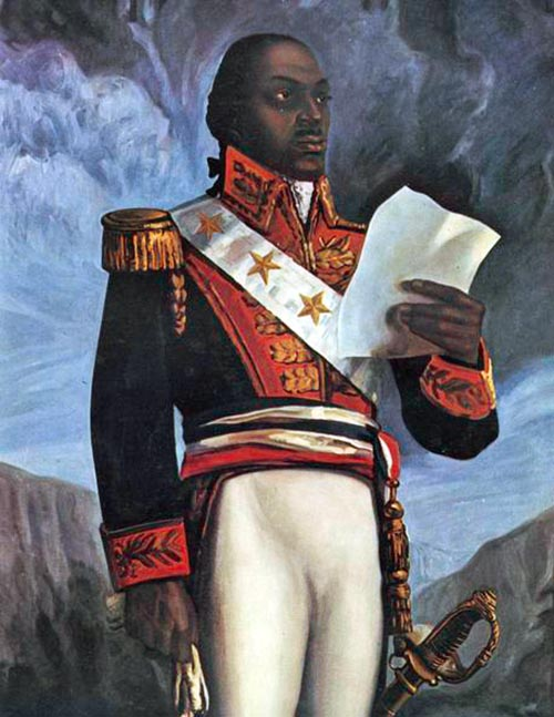 Painted portrait of a man in dress military clothing, holding some papers in one hand.