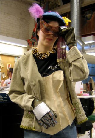 Photo of a student wearing assortment of costume elements.
