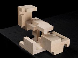 Photo of interlocking wooden forms.