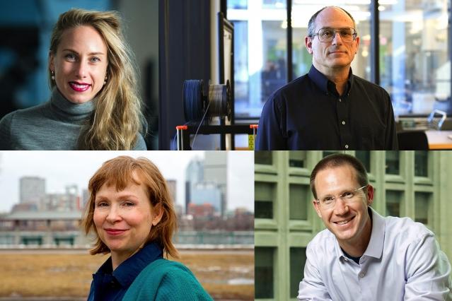 Four faculty portrait photos.