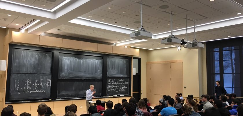Photo of Professor Strang leacturing in class