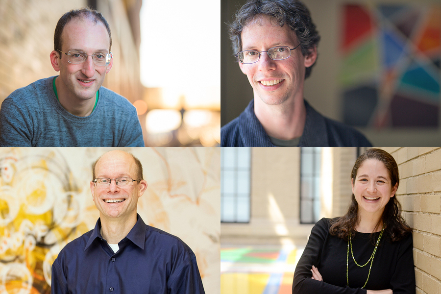 A montage of four photographs of MIT professors